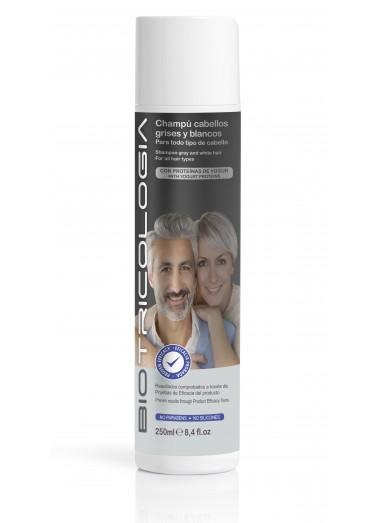 Champú cabellos grises y blancos para todo tipo de cabello